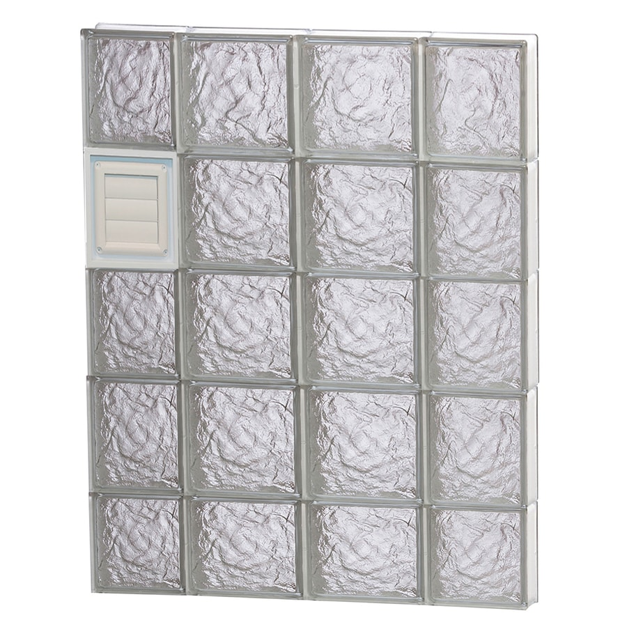 REDI2SET Ice Glass Pattern Frameless Replacement Glass Block Window (Rough Opening: 28-in x 38-in; Actual: 27-in x 36.75-in)