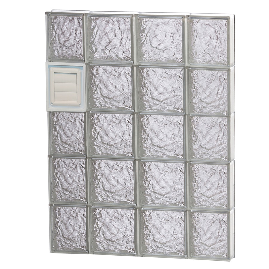 REDI2SET Ice Glass Pattern Frameless Replacement Glass Block Window (Rough Opening: 28-in x 40-in; Actual: 27-in x 38.75-in)