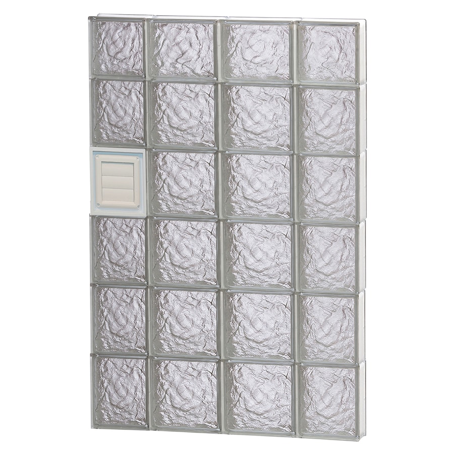 REDI2SET Ice Pattern Frameless Replacement Glass Block Window (Rough Opening: 28-in x 46-in; Actual: 27-in x 44.5-in)