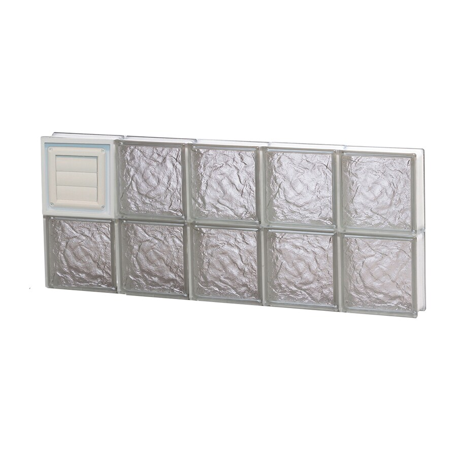 REDI2SET Ice Glass Pattern Frameless Replacement Glass Block Window (Rough Opening: 30-in x 12-in; Actual: 28.75-in x 11.5-in)