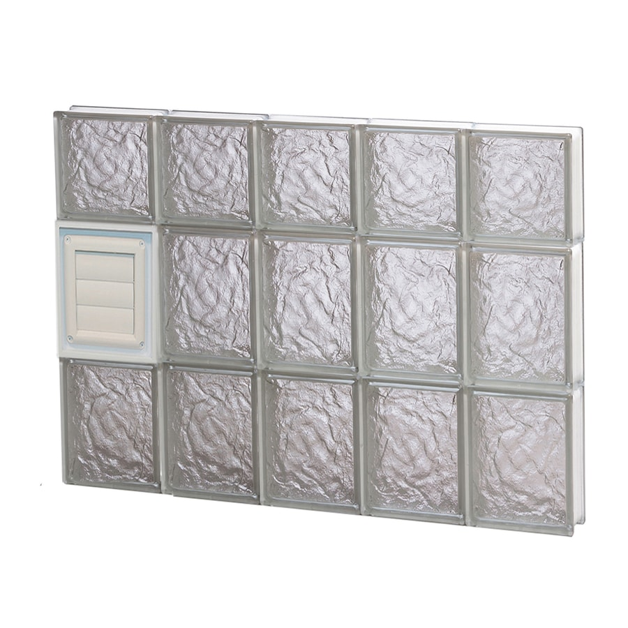 REDI2SET Ice Glass Pattern Frameless Replacement Glass Block Window (Rough Opening: 30-in x 22-in; Actual: 28.75-in x 21.25-in)
