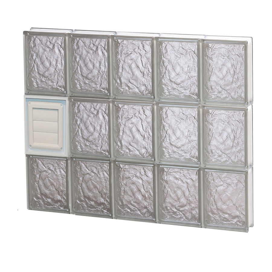 REDI2SET Ice Glass Pattern Frameless Replacement Glass Block Window (Rough Opening: 30-in x 24-in; Actual: 28.7500-in x 23.2500-in)