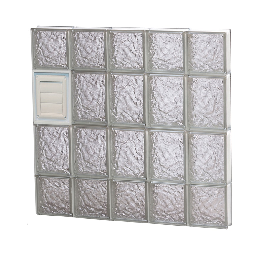 REDI2SET Ice Glass Pattern Frameless Replacement Glass Block Window (Rough Opening: 30-in x 28-in; Actual: 28.75-in x 27-in)