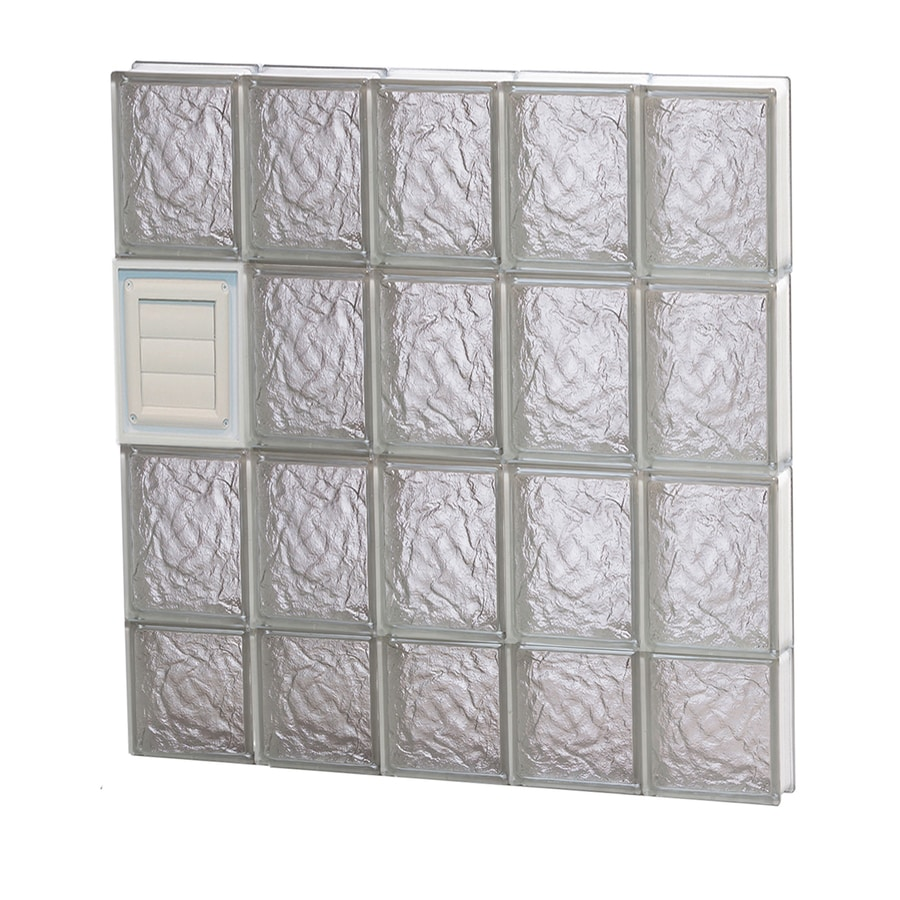 Shop redi2set ice glass pattern frameless replacement Glass block window sizes