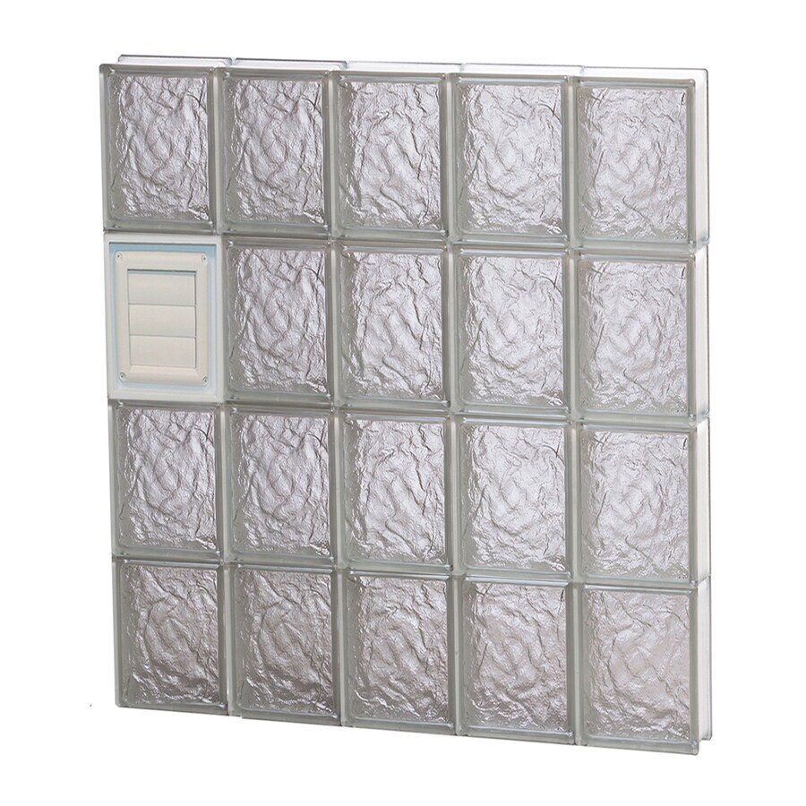 REDI2SET Ice Glass Pattern Frameless Replacement Glass Block Window (Rough Opening: 30-in x 32-in; Actual: 28.75-in x 31-in)