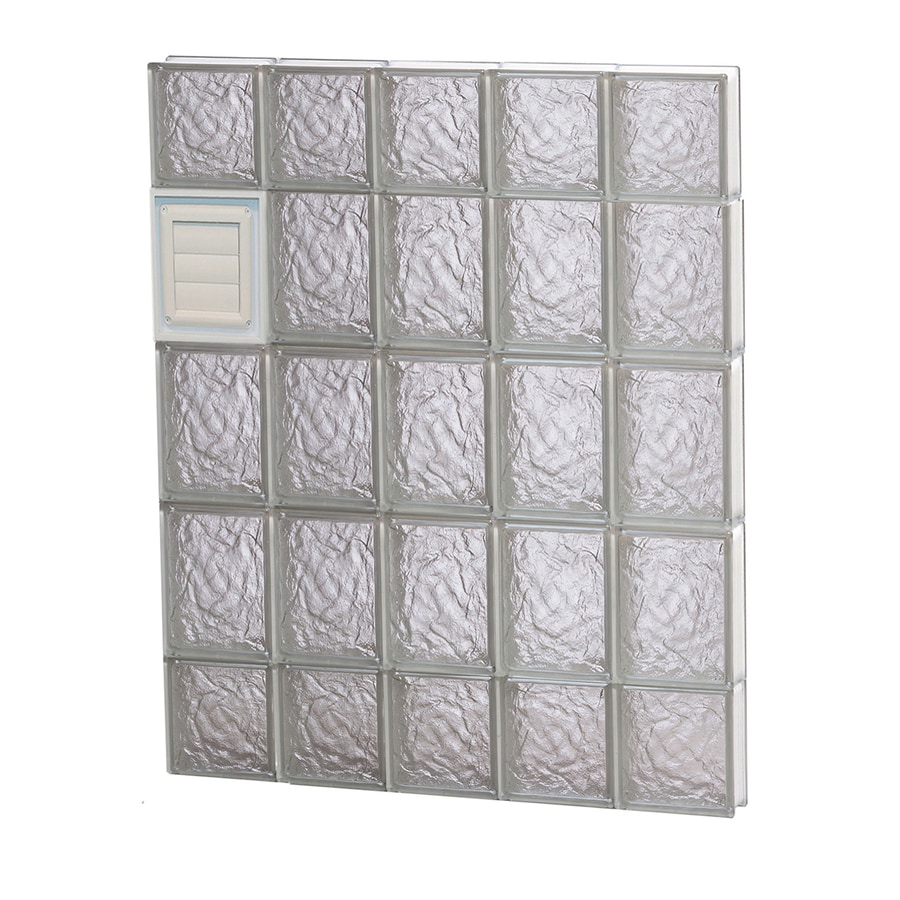 REDI2SET Ice Pattern Frameless Replacement Glass Block Window (Rough Opening: 30-in x 36-in; Actual: 28.75-in x 34.75-in)