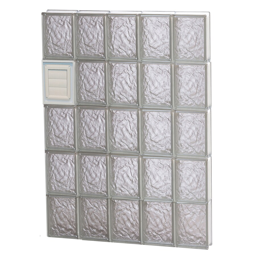 REDI2SET Ice Pattern Frameless Replacement Glass Block Window (Rough Opening: 30-in x 40-in; Actual: 28.75-in x 38.75-in)