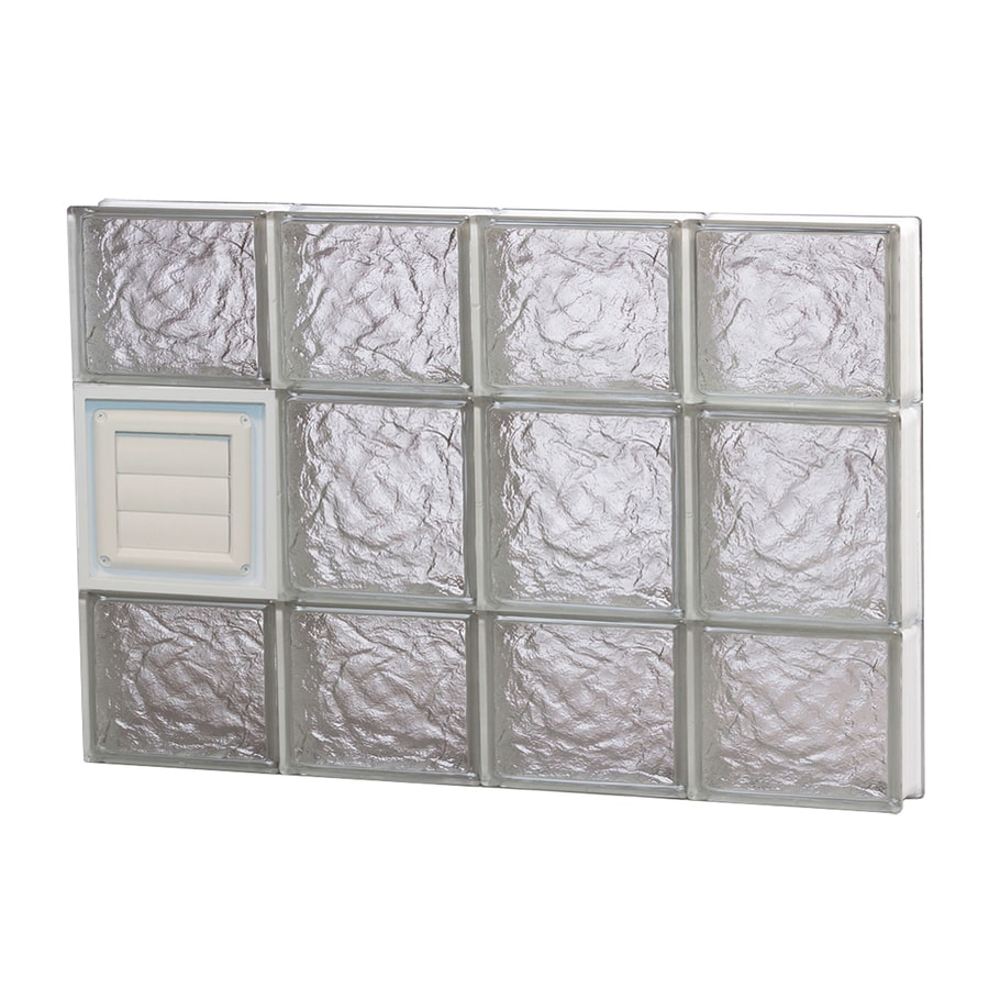 REDI2SET Ice Glass Pattern Frameless Replacement Glass Block Window (Rough Opening: 32-in x 20-in; Actual: 31-in x 19.25-in)
