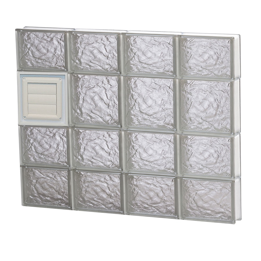 REDI2SET Ice Glass Pattern Frameless Replacement Glass Block Window (Rough Opening: 32-in x 26-in; Actual: 31-in x 25-in)