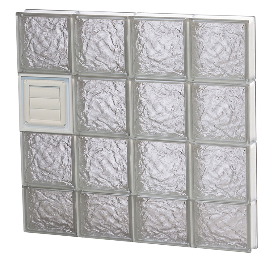 REDI2SET Ice Glass Pattern Frameless Replacement Glass Block Window (Rough Opening: 32-in x 32-in; Actual: 31-in x 31-in)