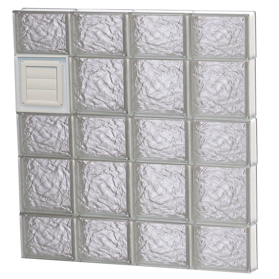 REDI2SET Ice Glass Pattern Frameless Replacement Glass Block Window (Rough Opening: 32-in x 34-in; Actual: 31-in x 32.75-in)