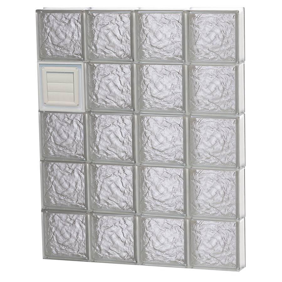REDI2SET Ice Pattern Frameless Replacement Glass Block Window (Rough Opening: 32-in x 40-in; Actual: 31-in x 38.75-in)
