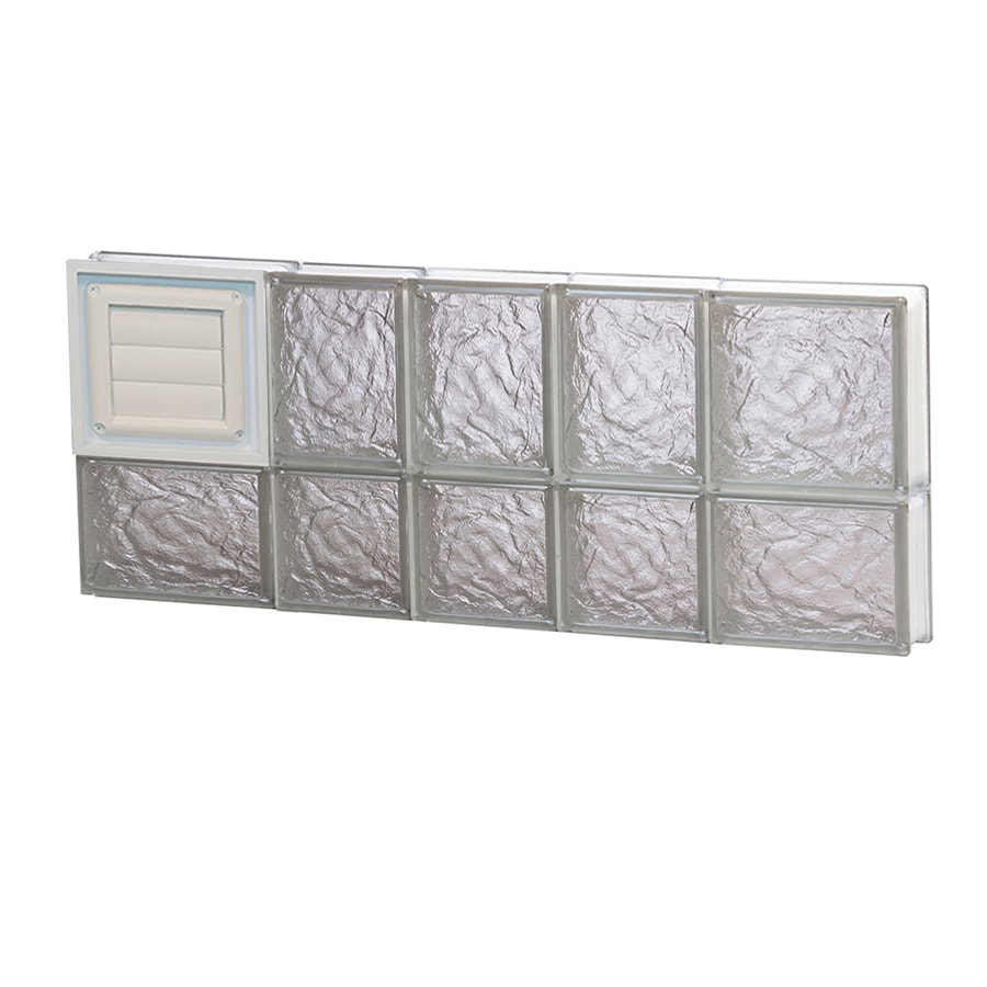 REDI2SET Ice Pattern Frameless Replacement Glass Block Window (Rough Opening: 34-in x 14-in; Actual: 32.75-in x 13.5-in)