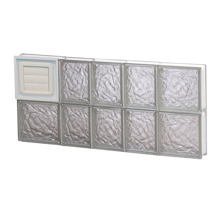REDI2SET Ice Glass Pattern Frameless Replacement Glass Block Window (Rough Opening: 34-in x 16-in; Actual: 32.75-in x 15.5-in)