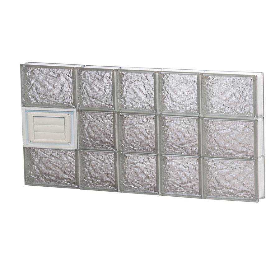 REDI2SET Ice Glass Pattern Frameless Replacement Glass Block Window (Rough Opening: 34-in x 18-in; Actual: 32.75-in x 17.25-in)