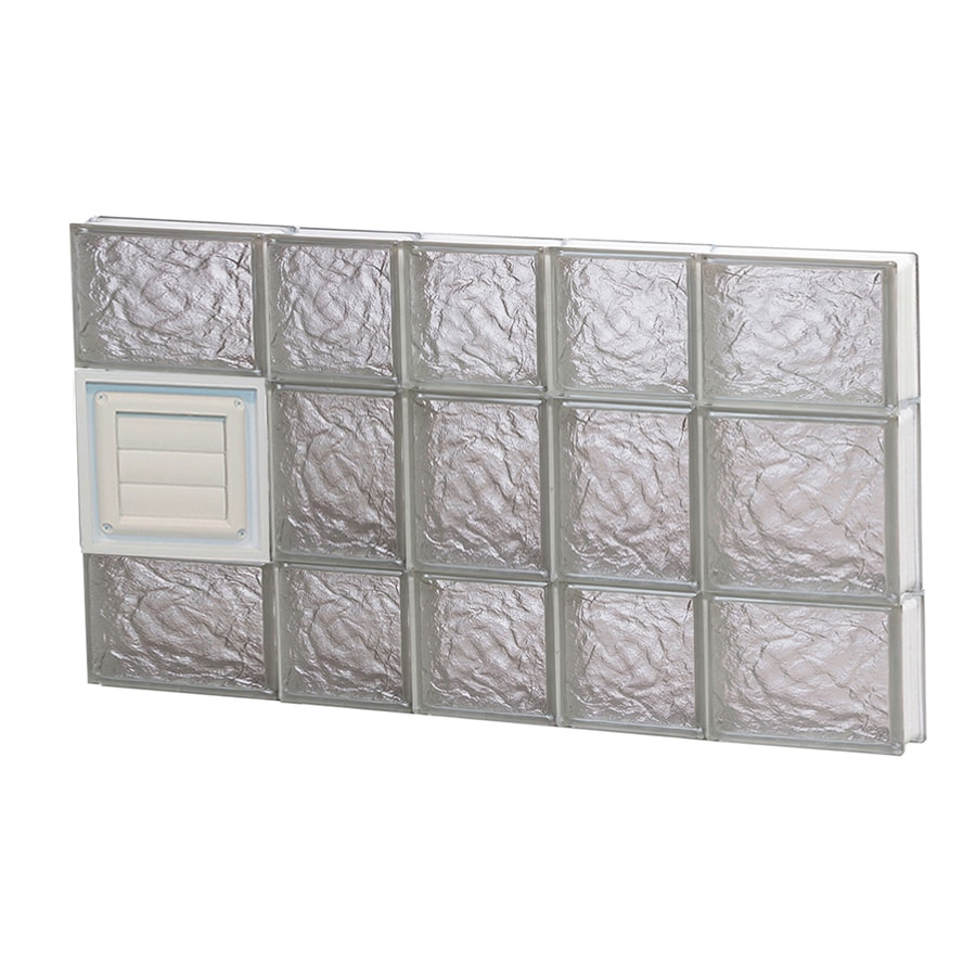 REDI2SET Ice Glass Pattern Frameless Replacement Glass Block Window (Rough Opening: 34-in x 20-in; Actual: 32.75-in x 19.25-in)