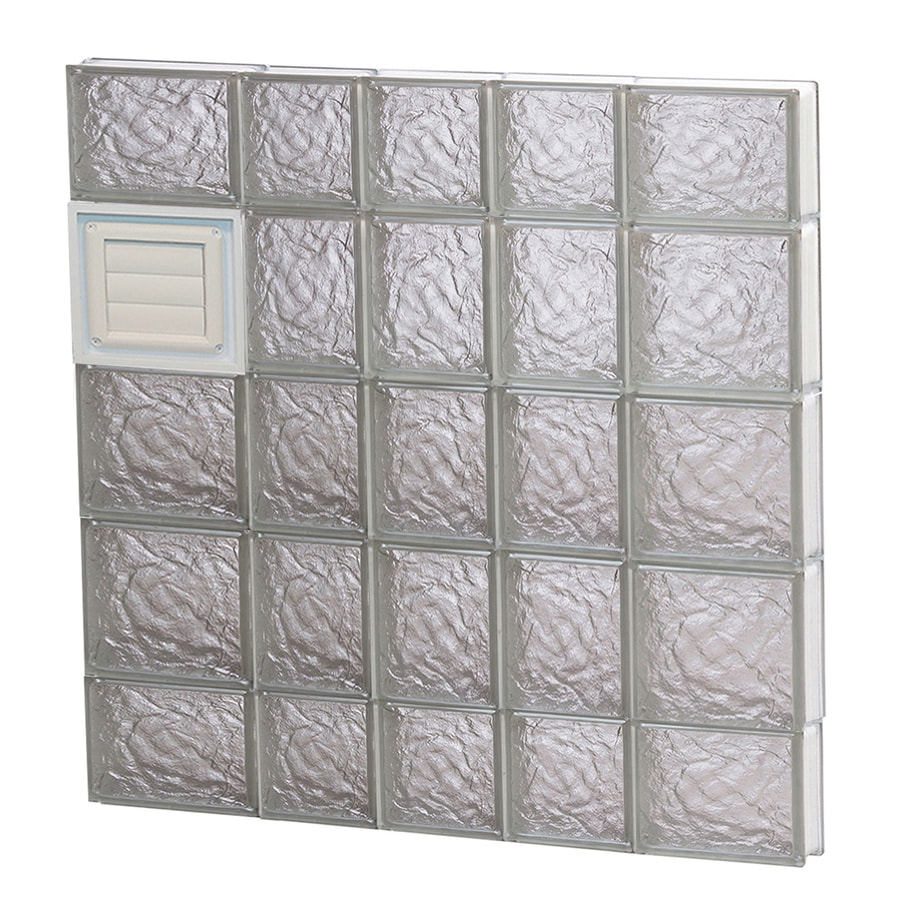 REDI2SET Ice Glass Pattern Frameless Replacement Glass Block Window (Rough Opening: 34-in x 36-in; Actual: 32.75-in x 34.75-in)