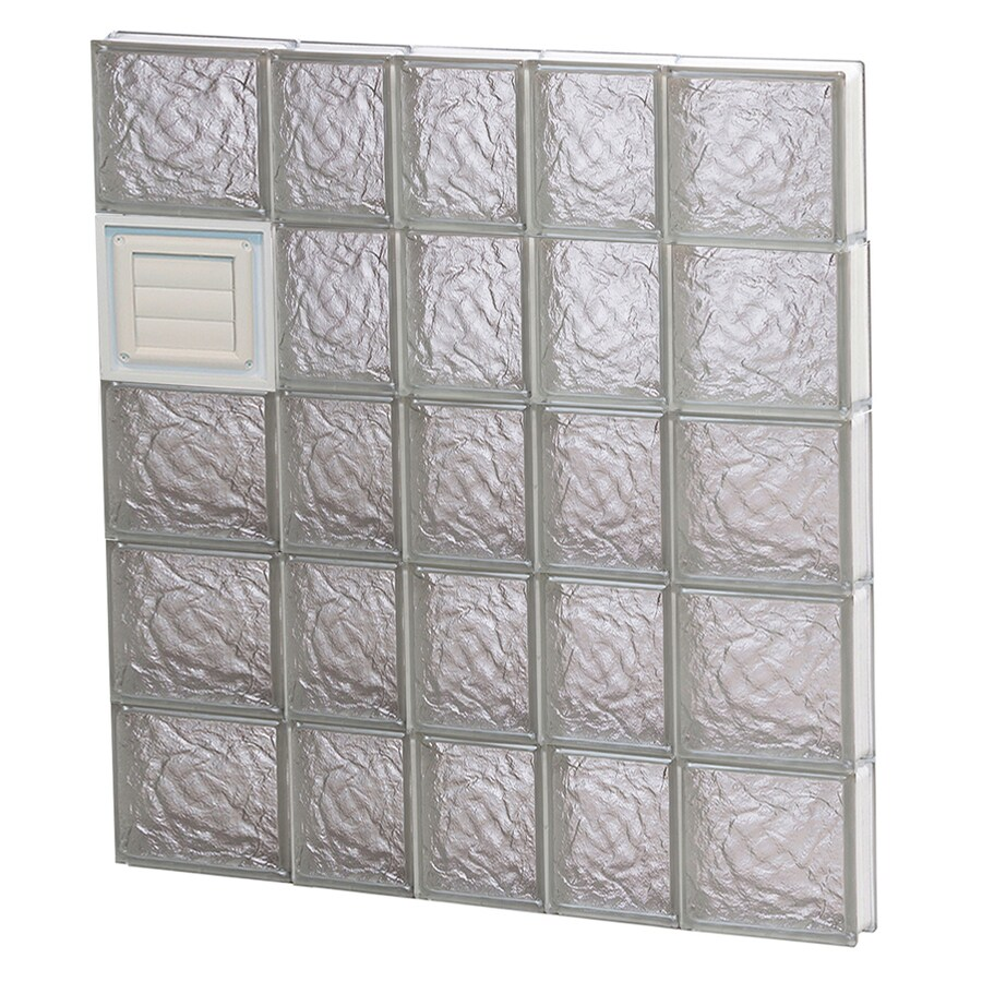 REDI2SET Ice Glass Pattern Frameless Replacement Glass Block Window (Rough Opening: 34-in x 40-in; Actual: 32.75-in x 38.75-in)