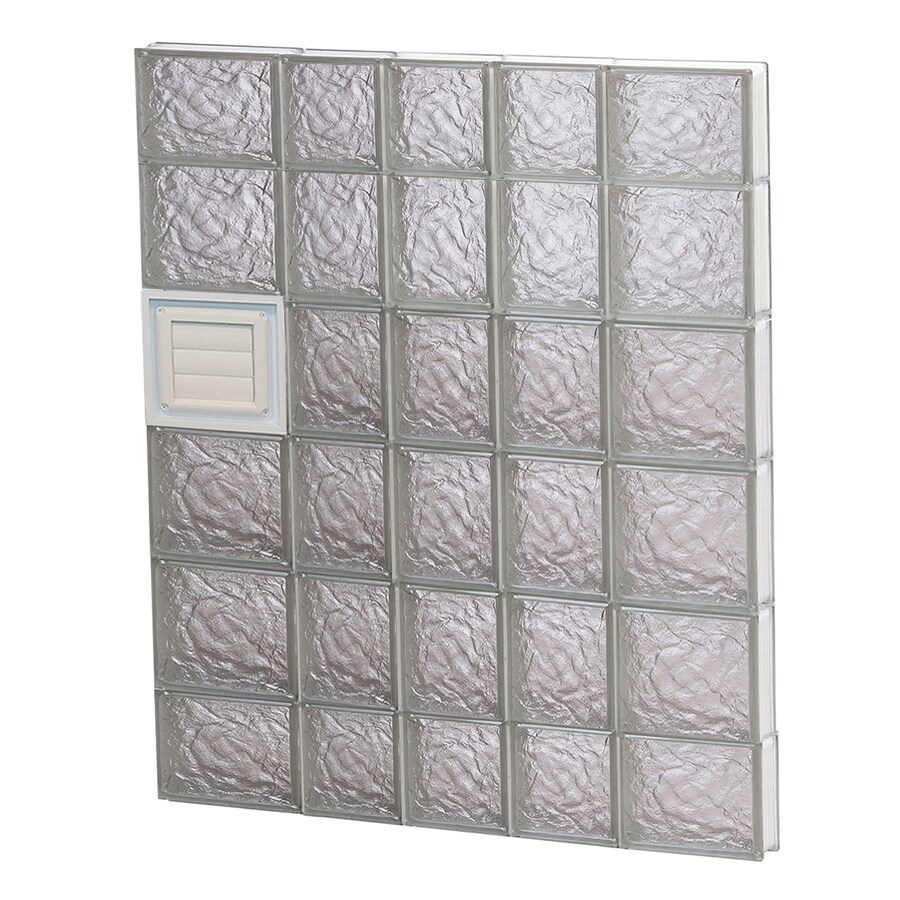 REDI2SET Ice Glass Pattern Frameless Replacement Glass Block Window (Rough Opening: 34-in x 44-in; Actual: 32.75-in x 42.5-in)