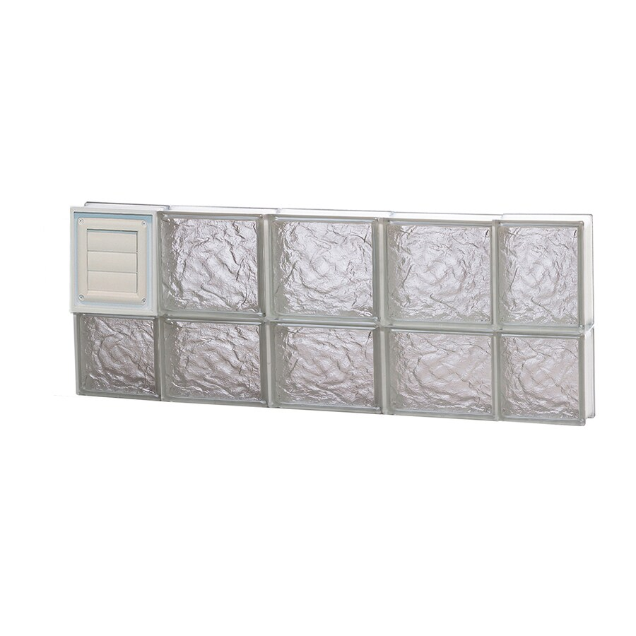 REDI2SET Ice Glass Pattern Frameless Replacement Glass Block Window (Rough Opening: 36-in x 14-in; Actual: 34.75-in x 13.5-in)