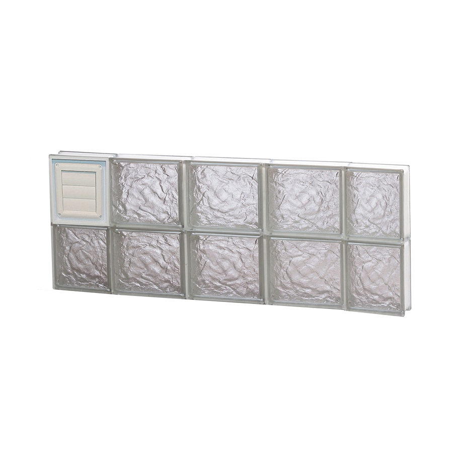 REDI2SET Ice Pattern Frameless Replacement Glass Block Window (Rough Opening: 36-in x 16-in; Actual: 34.75-in x 15.5-in)