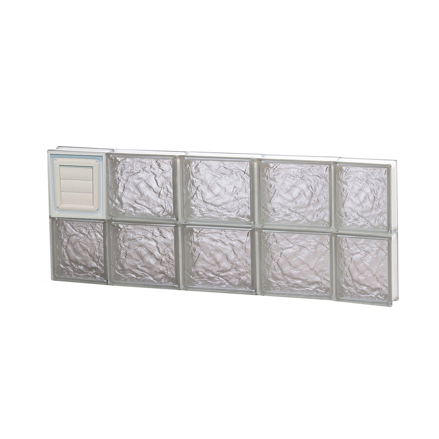 REDI2SET Ice Glass Pattern Frameless Replacement Glass Block Window (Rough Opening: 36-in x 16-in; Actual: 34.75-in x 15.5-in)