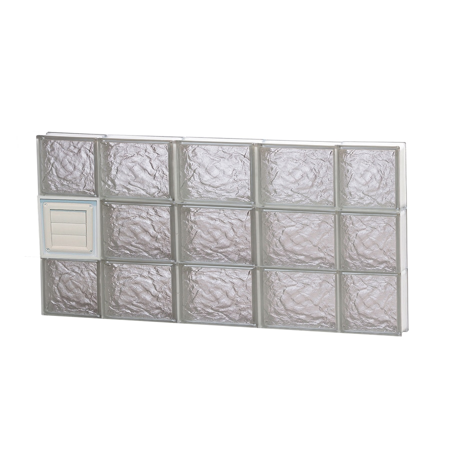 REDI2SET Ice Glass Pattern Frameless Replacement Glass Block Window (Rough Opening: 36-in x 18-in; Actual: 34.75-in x 17.25-in)