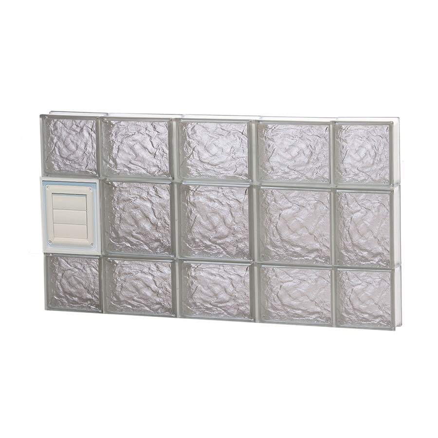 REDI2SET Ice Glass Pattern Frameless Replacement Glass Block Window (Rough Opening: 36-in x 20-in; Actual: 34.75-in x 19.25-in)