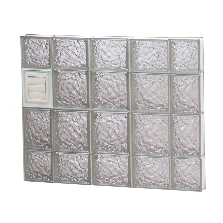 REDI2SET Ice Glass Pattern Frameless Replacement Glass Block Window (Rough Opening: 36-in x 28-in; Actual: 34.75-in x 27-in)
