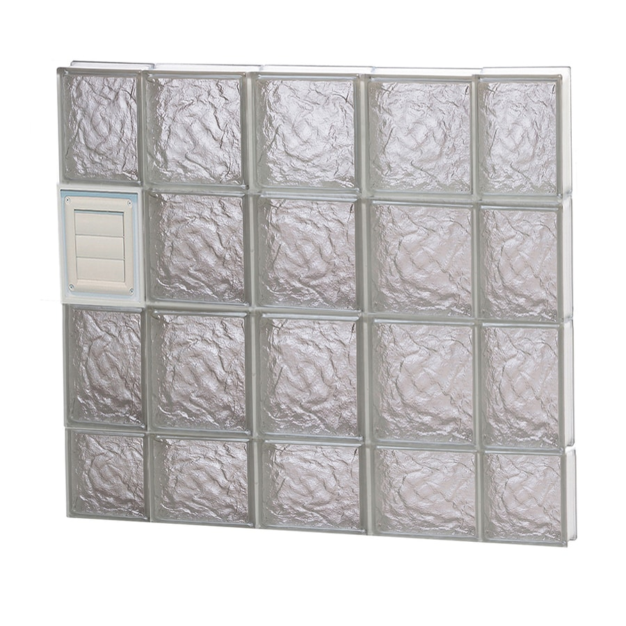 REDI2SET Ice Glass Pattern Frameless Replacement Glass Block Window (Rough Opening: 36-in x 30-in; Actual: 34.75-in x 29-in)