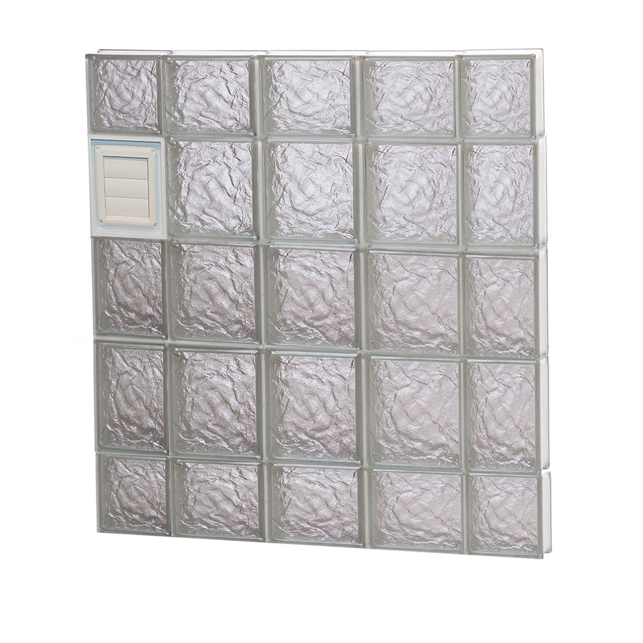 REDI2SET Ice Glass Pattern Frameless Replacement Glass Block Window (Rough Opening: 36-in x 36-in; Actual: 34.7500-in x 34.7500-in)