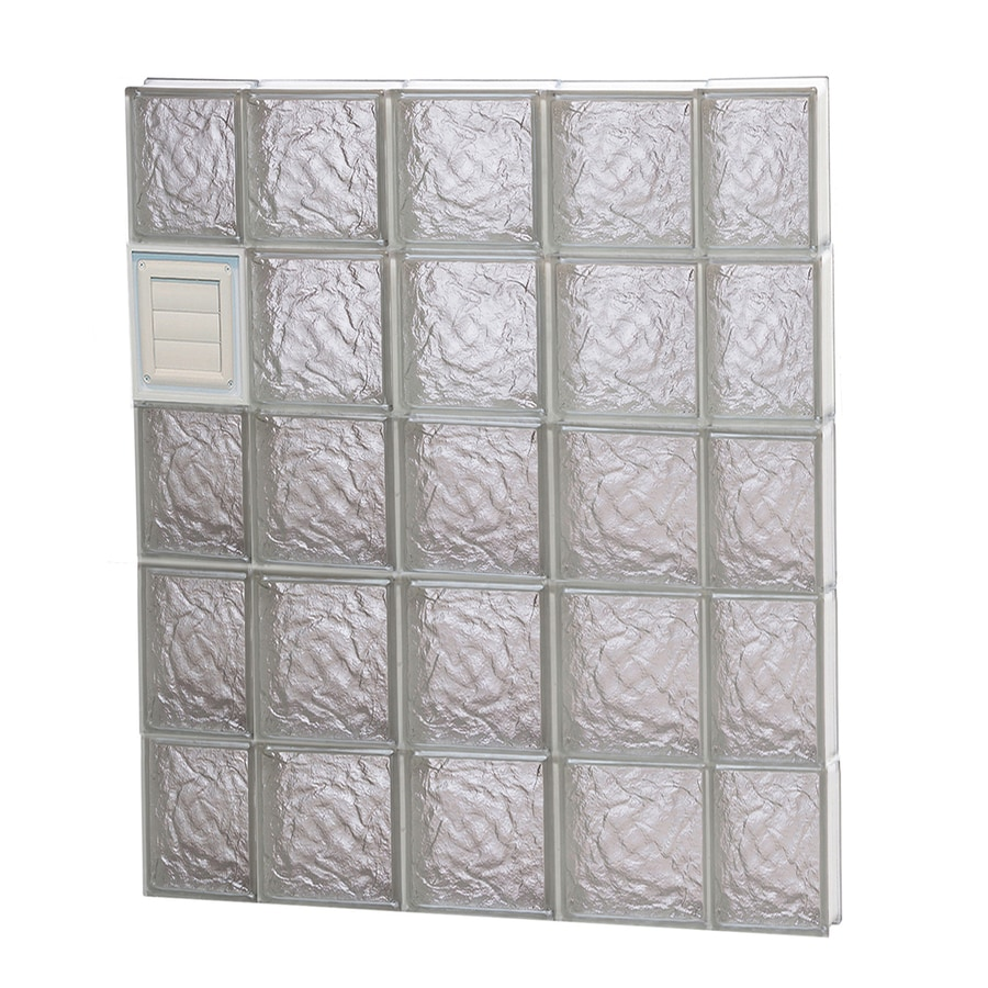 REDI2SET Ice Pattern Frameless Replacement Glass Block Window (Rough Opening: 36-in x 40-in; Actual: 34.75-in x 38.75-in)