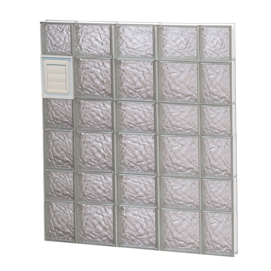 REDI2SET Ice Glass Pattern Frameless Replacement Glass Block Window (Rough Opening: 36-in x 42-in; Actual: 34.75-in x 40.5-in)