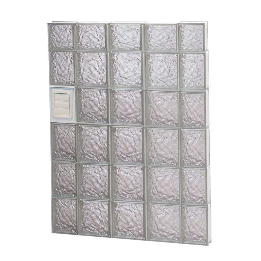 REDI2SET Ice Glass Pattern Frameless Replacement Glass Block Window (Rough Opening: 36-in x 46-in; Actual: 34.75-in x 44.5-in)