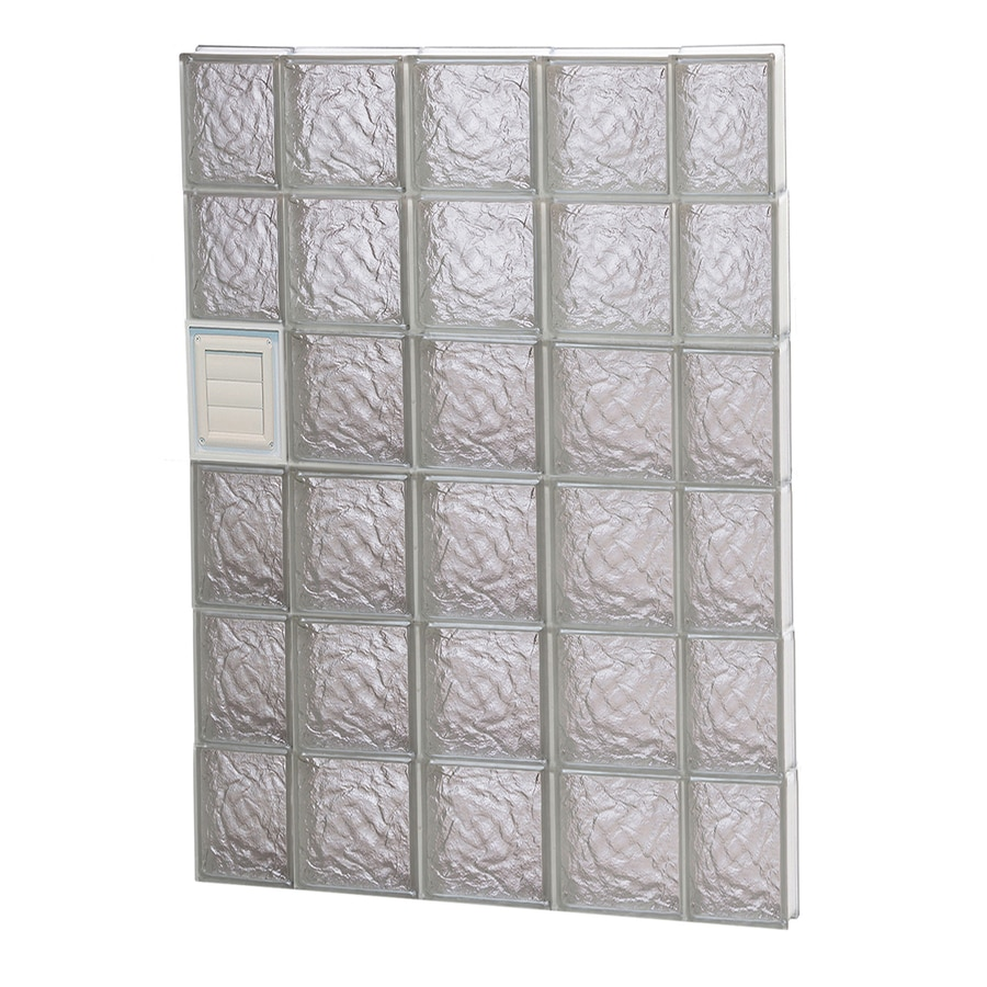 REDI2SET Ice Glass Pattern Frameless Replacement Glass Block Window (Rough Opening: 36-in x 48-in; Actual: 34.75-in x 46.5-in)