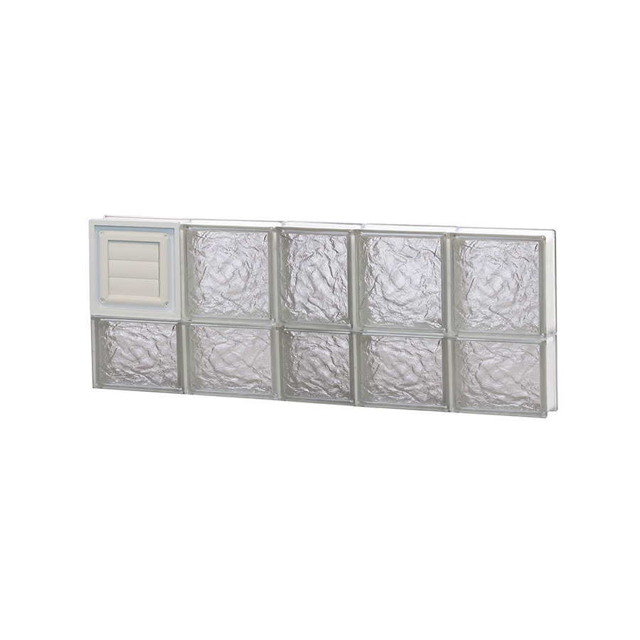 REDI2SET Ice Pattern Frameless Replacement Glass Block Window (Rough Opening: 38-in x 14-in; Actual: 36.75-in x 13.5-in)