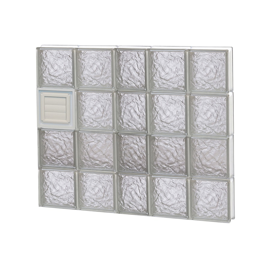 REDI2SET Ice Glass Pattern Frameless Replacement Glass Block Window (Rough Opening: 38-in x 32-in; Actual: 36.75-in x 31-in)