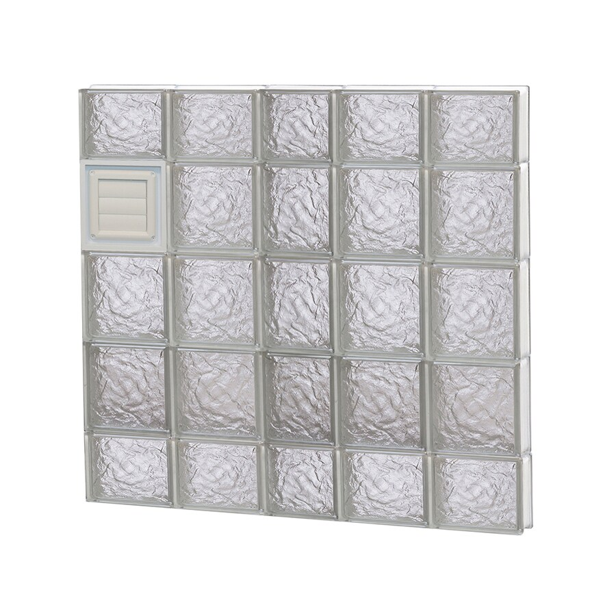 REDI2SET Ice Pattern Frameless Replacement Glass Block Window (Rough Opening: 38-in x 36-in; Actual: 36.75-in x 34.75-in)