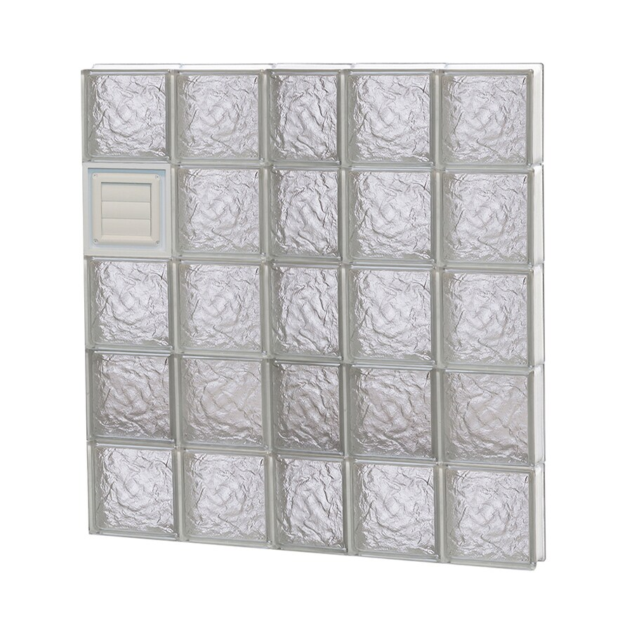 REDI2SET Ice Glass Pattern Frameless Replacement Glass Block Window (Rough Opening: 38-in x 40-in; Actual: 36.75-in x 38.75-in)