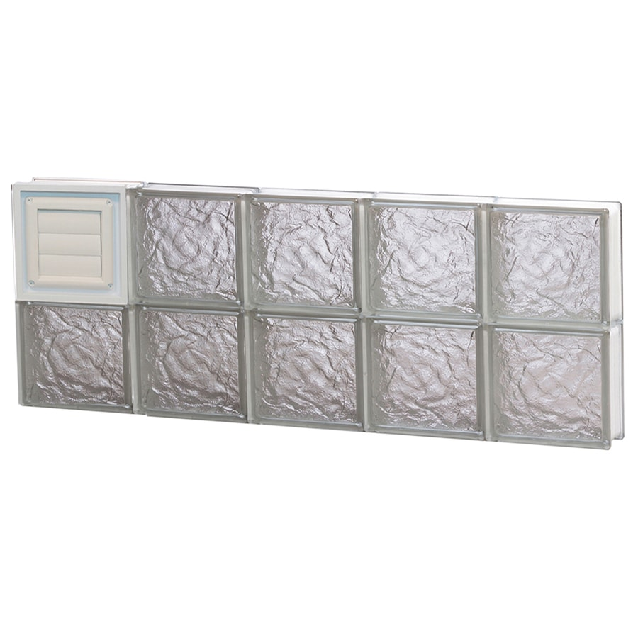 REDI2SET Ice Pattern Frameless Replacement Glass Block Window (Rough Opening: 40-in x 16-in; Actual: 38.75-in x 15.5-in)