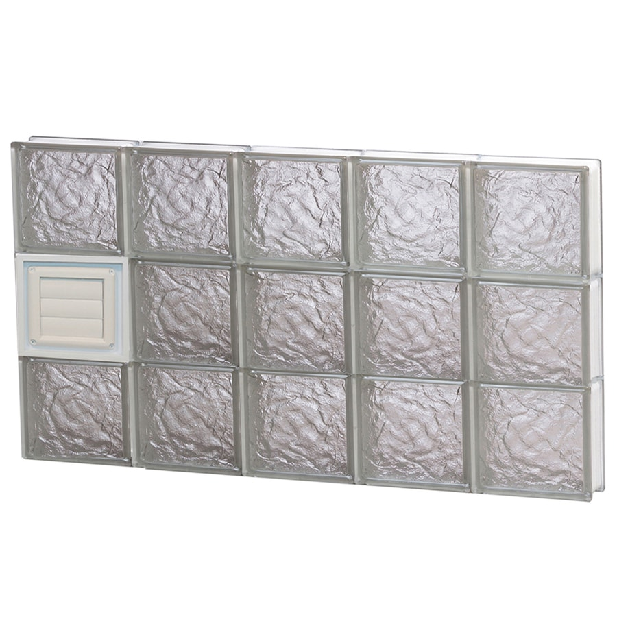 REDI2SET Ice Pattern Frameless Replacement Glass Block Window (Rough Opening: 40-in x 24-in; Actual: 38.75-in x 23.25-in)