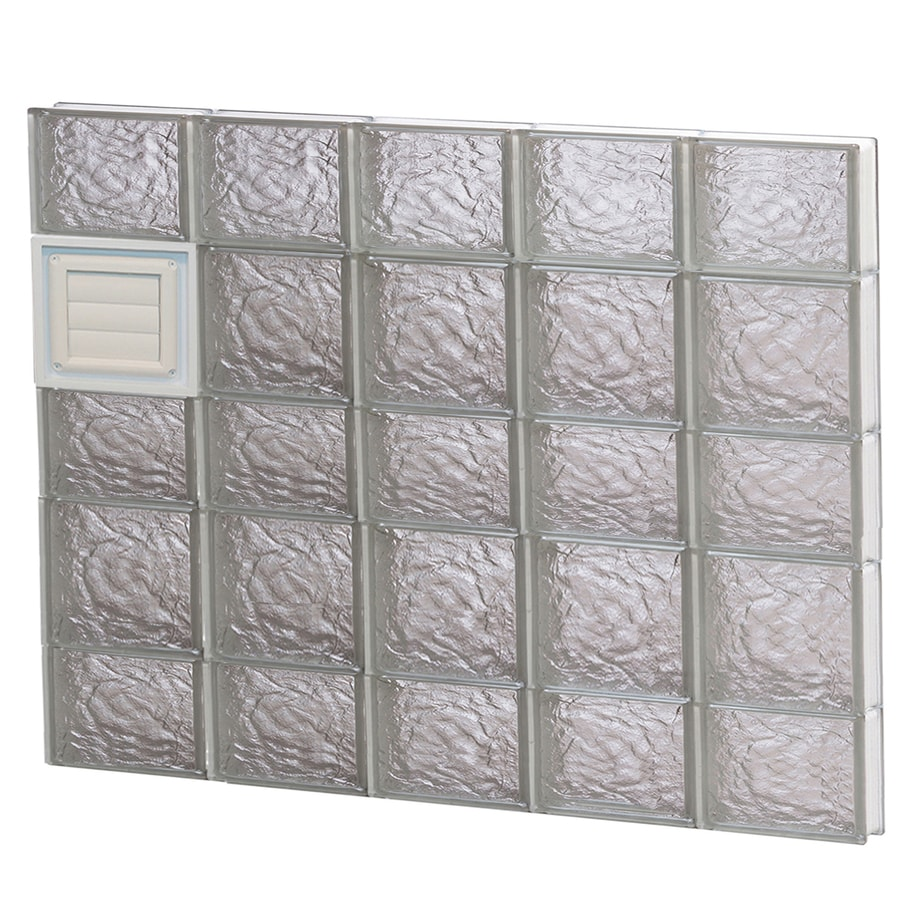 REDI2SET Ice Glass Pattern Frameless Replacement Glass Block Window (Rough Opening: 40-in x 34-in; Actual: 38.75-in x 32.75-in)