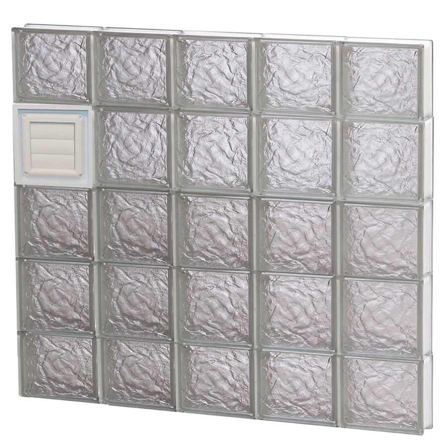 REDI2SET Ice Glass Pattern Frameless Replacement Glass Block Window (Rough Opening: 40-in x 36-in; Actual: 38.75-in x 34.75-in)