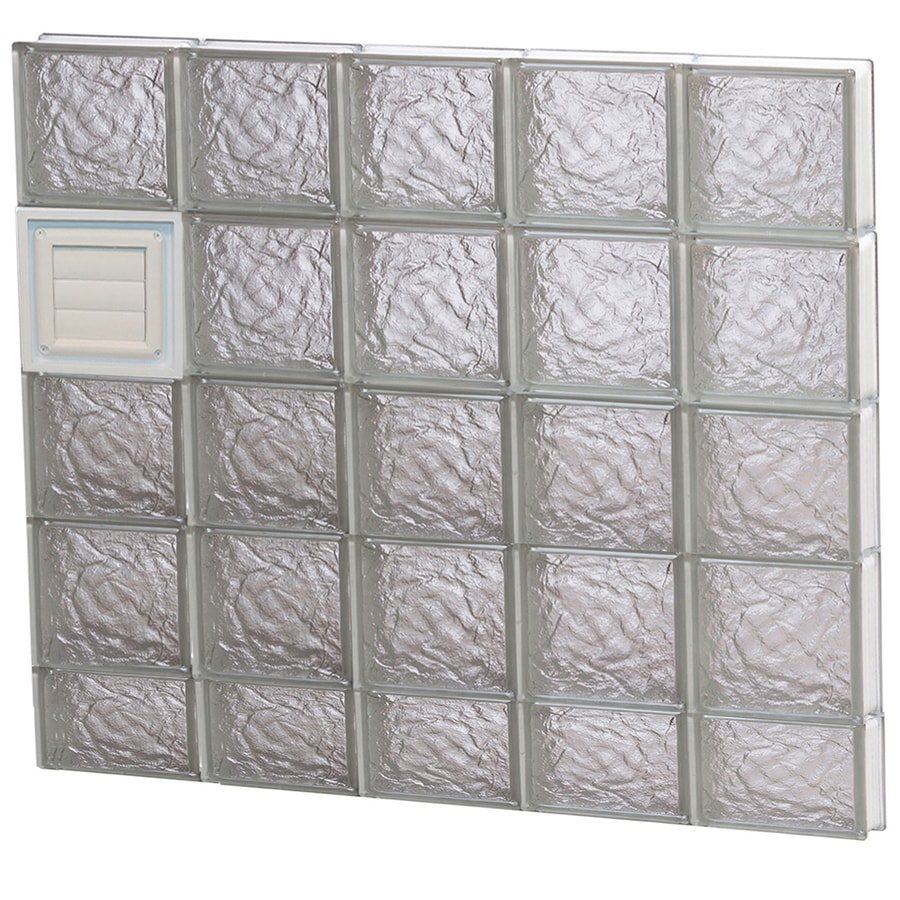 REDI2SET Ice Pattern Frameless Replacement Glass Block Window (Rough Opening: 40-in x 38-in; Actual: 38.75-in x 36.75-in)