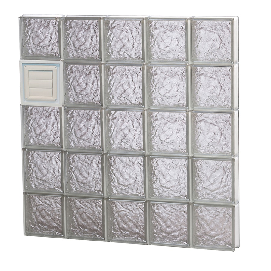 REDI2SET Ice Glass Pattern Frameless Replacement Glass Block Window (Rough Opening: 40-in x 40-in; Actual: 38.75-in x 38.75-in)
