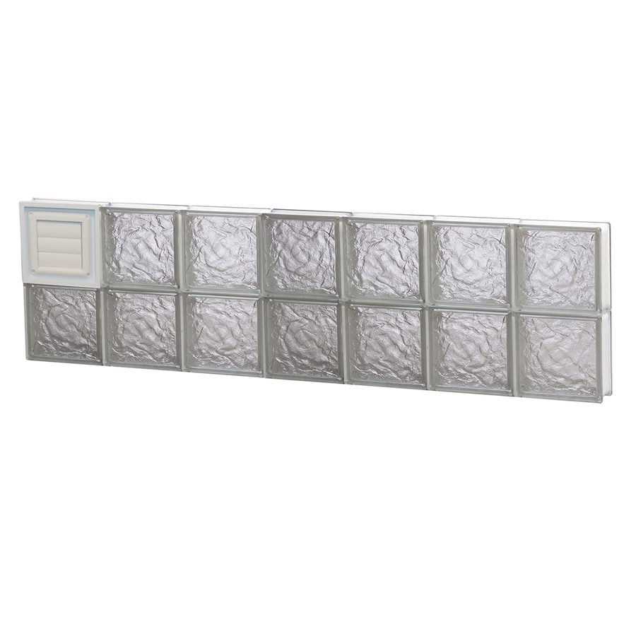 REDI2SET Ice Glass Pattern Frameless Replacement Glass Block Window (Rough Opening: 42-in x 12-in; Actual: 40.25-in x 11.5-in)