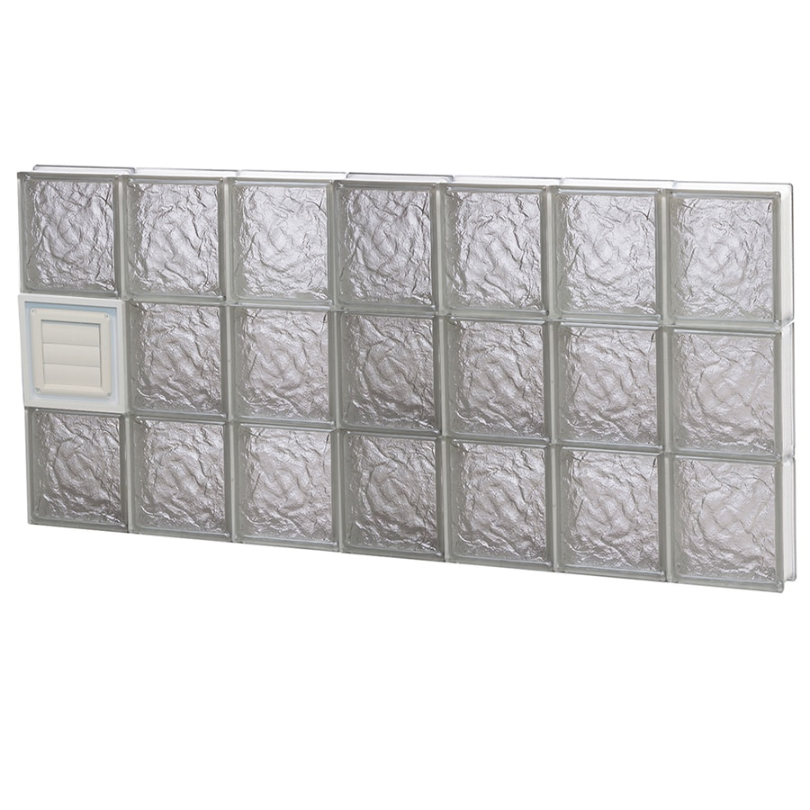 REDI2SET Ice Glass Pattern Frameless Replacement Glass Block Window (Rough Opening: 42-in x 24-in; Actual: 40.25-in x 23.25-in)
