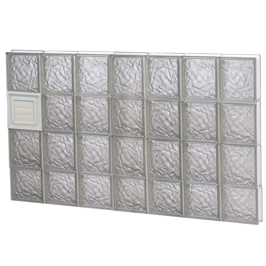 REDI2SET Ice Pattern Frameless Replacement Glass Block Window (Rough Opening: 42-in x 30-in; Actual: 40.25-in x 29-in)