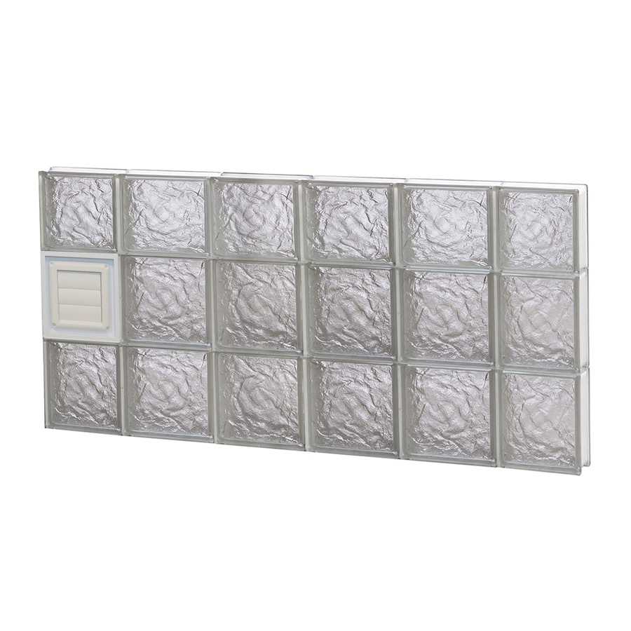 REDI2SET Ice Pattern Frameless Replacement Glass Block Window (Rough Opening: 44-in x 22-in; Actual: 42.5-in x 21.25-in)