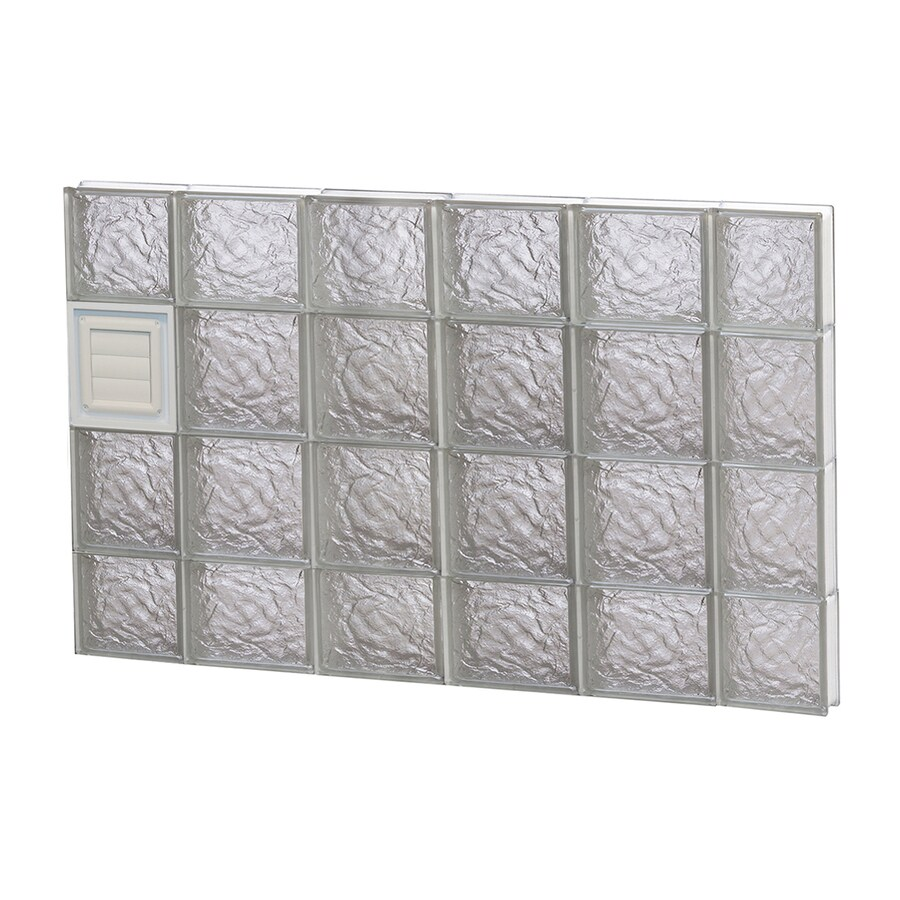 REDI2SET Ice Pattern Frameless Replacement Glass Block Window (Rough Opening: 44-in x 28-in; Actual: 42.5-in x 27-in)